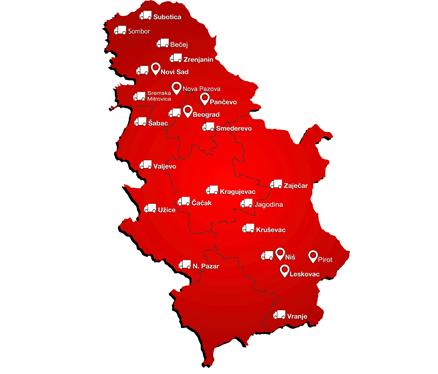 mapa cacak Mapa – Bex kurirska služba mapa cacak